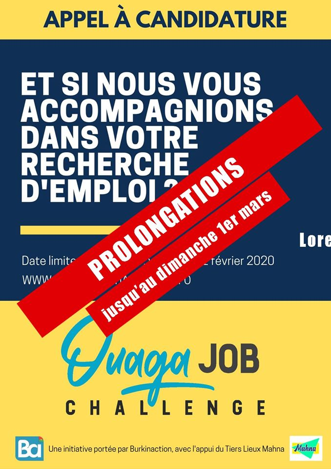 ouaga job challenge BurkinAction